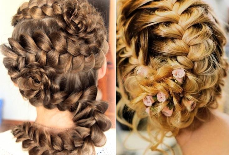 плетение кос в картинках